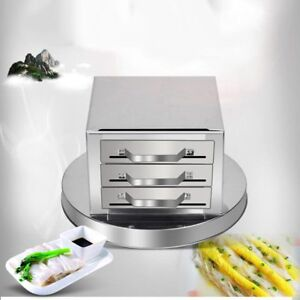 Image Is Loading Stainless Steel 3 Layer Steamer Kitchen Food Steaming