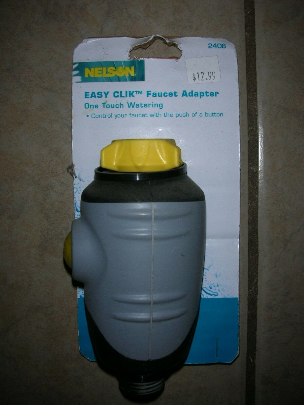 Nelson Easy Clik Faucet Adapter - One Touch Watering -#2406 (B 34)