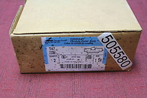 Crouse-Hinds-T47-1-1-4-034-Feraloy-Iron-Alloy-T-Conduit-Body-Form-7-New