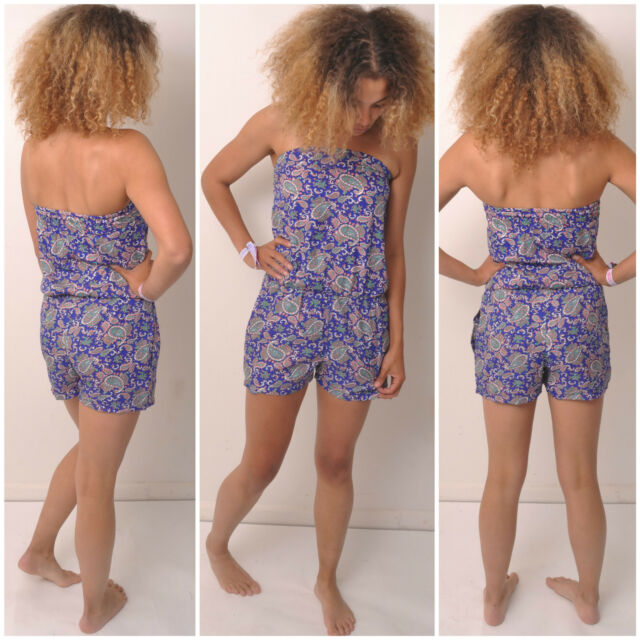 PLAYSUIT JUMPSUIT SIZE 6 8 10 12 14 FESTIVAL TUBE BOHO DRESS MACKIES FAIR