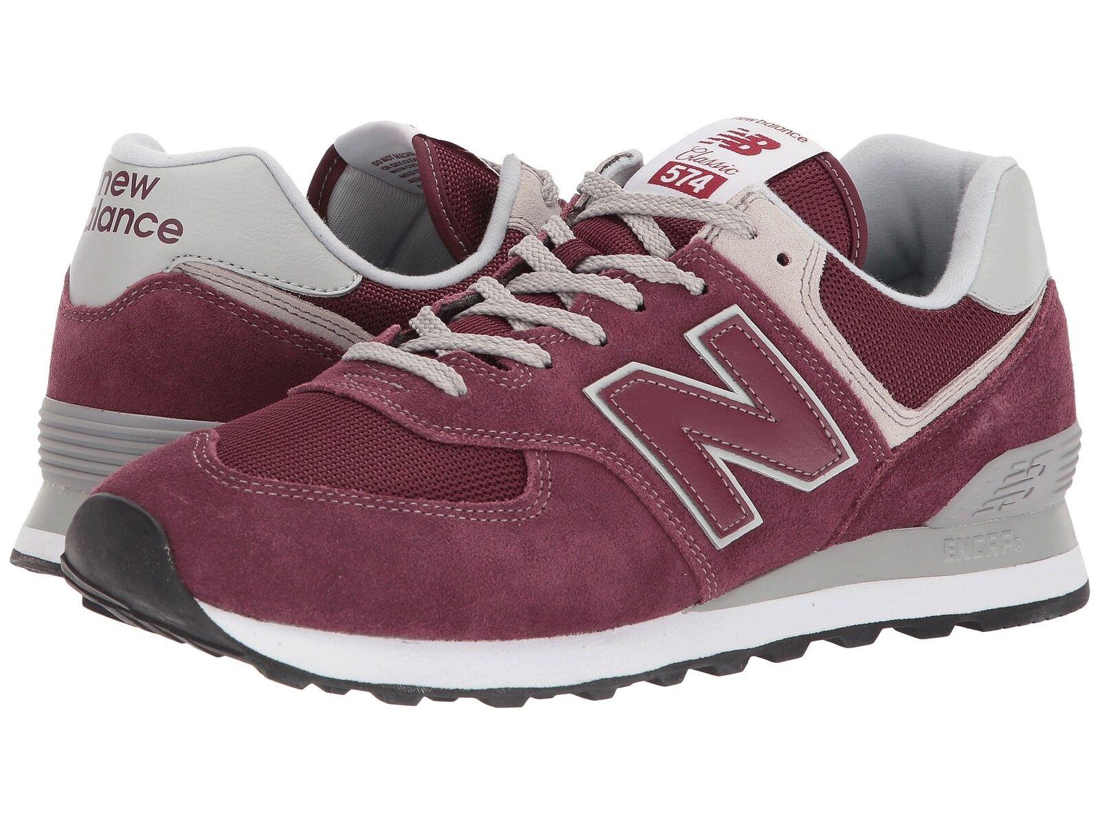 Nuovo equilibrio borgogna moda maschile scarpe 574 borgogna equilibrio ml574egb 57fb8a