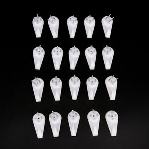 Hard-Wall-Picture-Frame-Plastic-Hooks-Hangers-4-Pin-Small-Pack-Of-20-White-JD