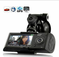 Hd Gps Dual Lens Vehicle Car Camera Video Dvr Dash Cam G-sensor 2.7 Lcd Screena