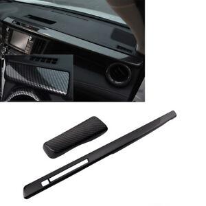 For Toyota RAV4 06-12 Carbon Fiber Passenger Dashboard Decorative Panel Trim