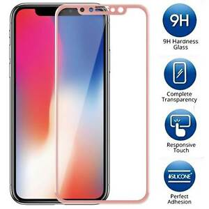 suitable for men/women finest fabrics clearance Details about FULL COVER Tempered Glass Screen Protector For Apple iPhone X  [Pink]