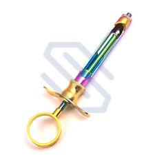 Dental Aspirating Syringe Cartridge 18ml Gold Multicolor Surgical Instruments