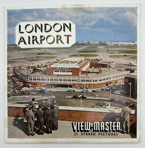 AEROPORTO-di-LONDRA-INGHILTERRA-Viewmaster-Bobine-Set-C283-anni-1960-RARO-CONDIZIONI-EX