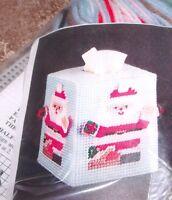 Design Works Santa Tissue Box Cover Plastic Canvas Kit