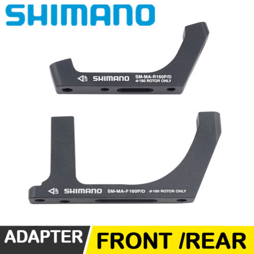 Shimano SM-MA-F160 R160 P//D Flat Mount Disc Brake Adapter PM Caliper//Flat Mount