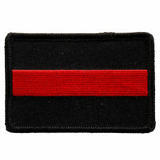 USA Fallen Firefighter Red line iron on sew on Firefighter Patch