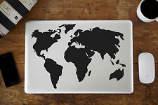 "Mapa del mundo Decal Sticker Para Portátil 13"" 15"""