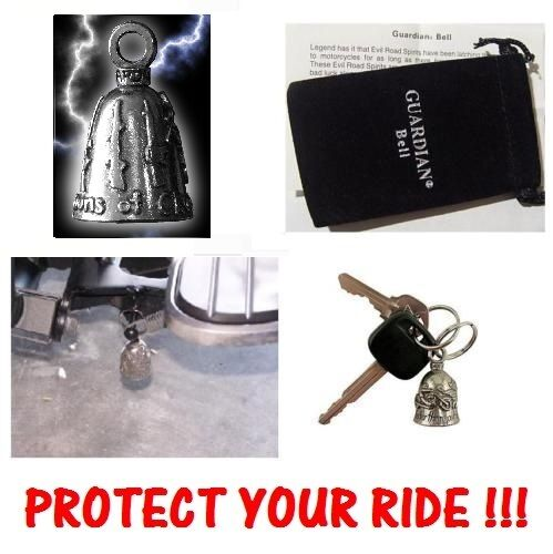 WEAPONS OF CHOICE MOTORCYCLE BIKER GUARDIAN BELL PROTECT YOUR RIDE FROM EVIL USA