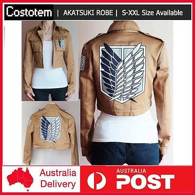 Attack on Titan Shingeki no Kyojin Legion Scouting Cosplay Costume Coat Jacket