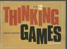 Thinking Games Book 2 Carl Bereiter/Valerie Anderson PB 1975 Age 9 & Up