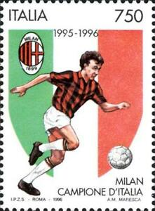 ITALIA-ITALY-1996-Milan-Winner-Calcio-Football-Soccer-Sport-Stamp-MNH