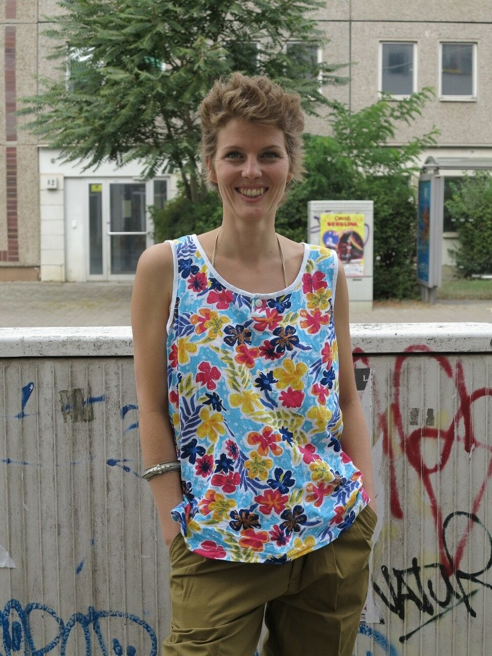 T-shirt Top bluemenmuster Baumwolle 90er TRUE VINTAGE 90s t-shirt with flowers