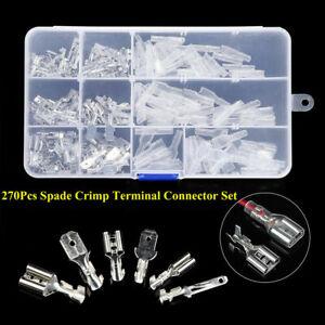 Terminales-de-cable-electrico-270PCS-Surtido-Aislado-crimp-connectors-Spade
