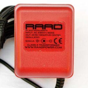 raad power supply regulated dc 9v red adapter guitar effect pedal center neg ebay. Black Bedroom Furniture Sets. Home Design Ideas