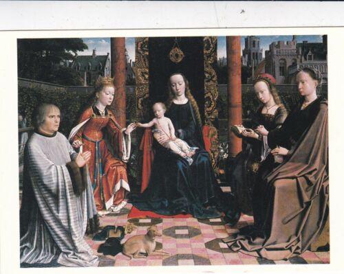 Gerard David Virgin and Child with Saints Postcard unused VGC