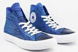 Converse x Nike CTAS Hi Flyknit Chuck Taylor Hi Top Mens Blue Multi ... b4e3a9739