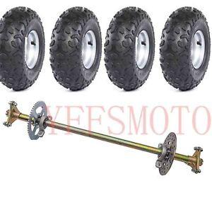 Rear-Axle-Brake-Disc-Hub-4-10-6-034-wheel-rim-tire-F-GoKart-Quad-ATV-4Wheeler-Buggy