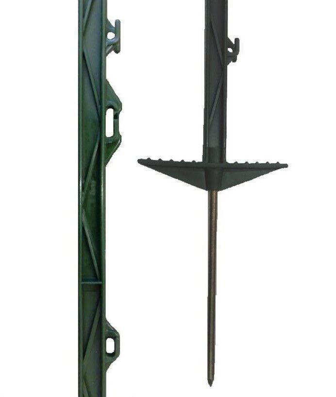 20 Sacchetti verde 5ft POLY posti - 156cm Tall recinzione elettrificata 4 PIEDI 6  SCHERMA GIOCO CAVALLO