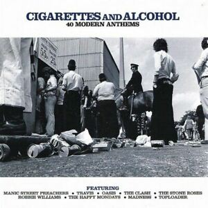 CIGARETTES-AND-ALCOHOL-40-MODERN-ANTHEMS-various-2x-CD-Compilation-Indie-Rock