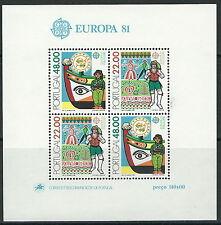 Portugal - Folklore Block 32 postfrisch 1981 Mi. 1531-1532