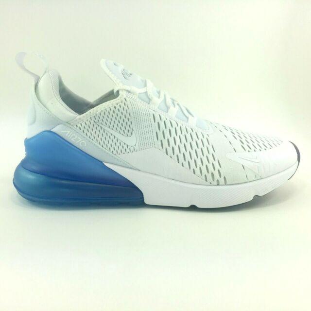 the latest 3dec9 aa17a Nike Air Max 270 Mens Aq7982-100 White Photo Blue Mesh Running Shoes ...