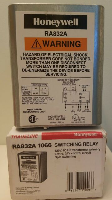 Honeywell Ra832a 1066 Hydronic Switching Relay 120v 60hz