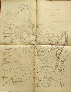 1880-RISORGIMENTO-CARTA-GEOGRAFICA-BATTAGLIA-DI-SANTA-LUCIA-DEL-6-MAGGIO-1848