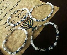 """4 TZITZIT BRACELETS SIZE 7 1/4"""" TZIT TZIT Torah Bible tassels DEUT 6:8 bracelet"""