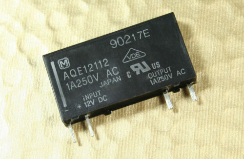 1pc AQE12112 Panasonic NAIS SSR Relay 12VDC control voltage SPST 250VAC 1A