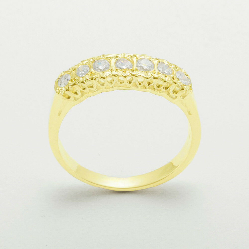 9k Yellow gold Natural Diamond Womens Eternity Ring - Sizes 4 to 12