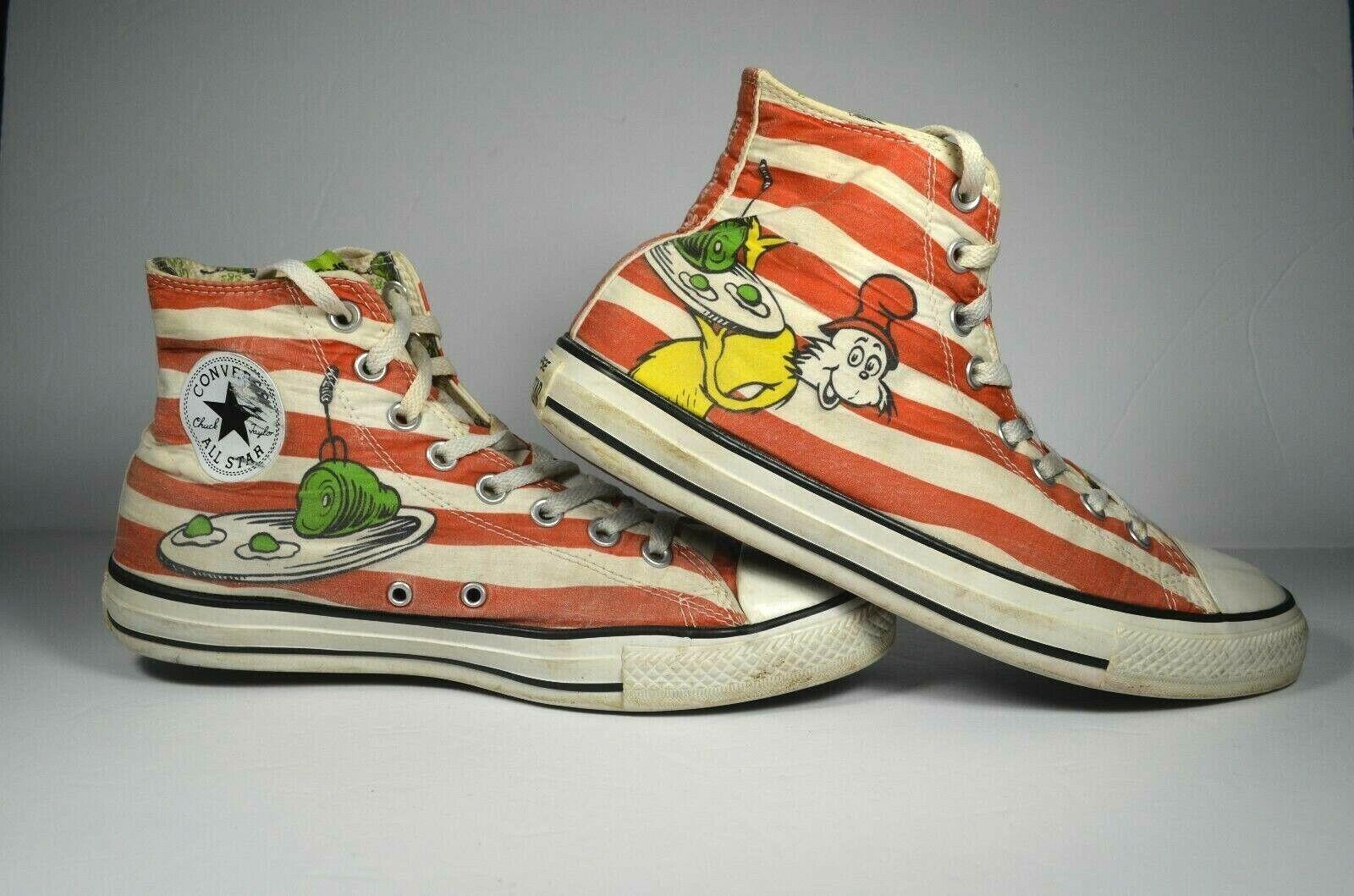 Converse All Star X Dr Seuss Seuss Seuss grön Eggs & Ham herr 9 Hi -Top skor  köp varumärke
