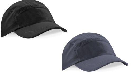 BLACK or GREY Waterproof Performance Baseball Hat Cap Visor Nylon Tactel® New