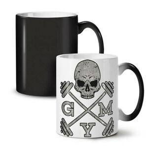 Skull Gym Fitness Sport NEW Colour Changing Tea Coffee Mug 11 oz | Wellcoda
