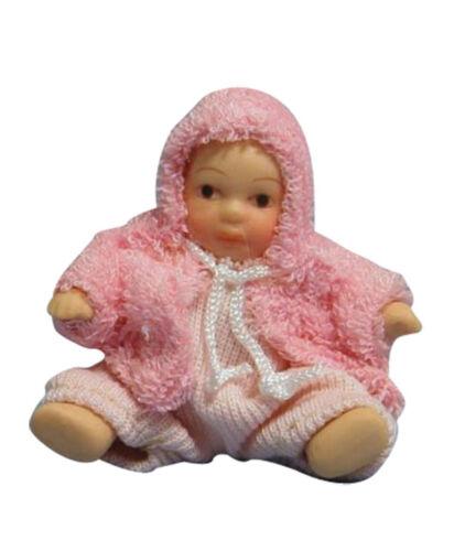 Escala 1:12 Rosa bebé mameluco traje tumdee en una casa de muñecas en miniatura accesorios 127