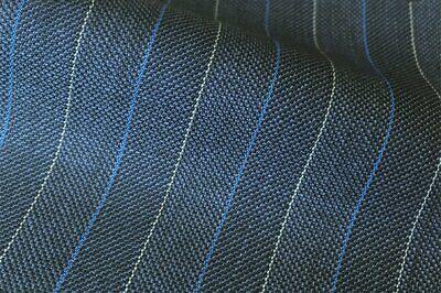 Blue Herringbone 3.5mts todo de lana satisfaciendo jacketing Tela