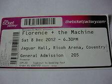 FLORENCE & THE MACHINE - UNUSED 2012 CONCERT TICKET