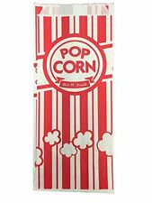 Carnival Style Paper Popcorn Bags 50 1oz Bags Red Amp White Striped Movie Theat