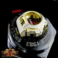 Casio G-shock/g Shock 6900 Cz White On Yellow Watch Bezel 2ctw Men's