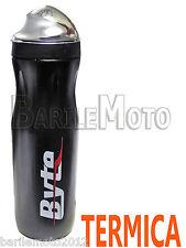 Borraccia Termica Bici MTB - Mountain Bike 500 ml Nero Cappuccio Antipolvere