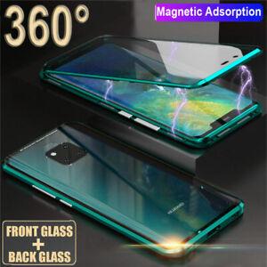 Adsorcion-magnetica-360-lado-doble-caja-de-vidrio-para-Huawei-Mate-20-P20-Pro-Cubierta