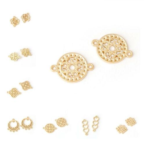 10 piezas de aleación de oro conector surtidos de Araña Pendiente hallazgos accesorios de bricolaje