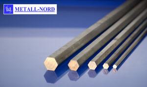 Stahl-Sechskant-Stange-034-Sw-x-Laenge-waehlbar-034-11SMnPb30-C-Automatenstahl-steel