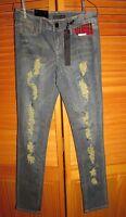 Black Crystal Skinny Indigo Jeans Juniors 7 W 29 L 32 98% Cotton 2%spandex