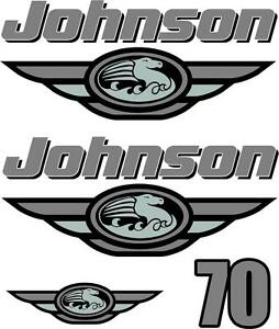 JOHNSON 70hp - DECAL SET - OUTBOARD DECALS