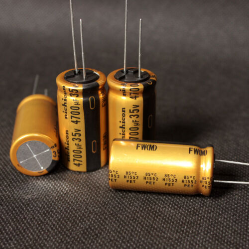 M 4PCS NICHICON 4700uF//35V GOLD FW FOR HIGH-END Audio Electrolytic Capacitor