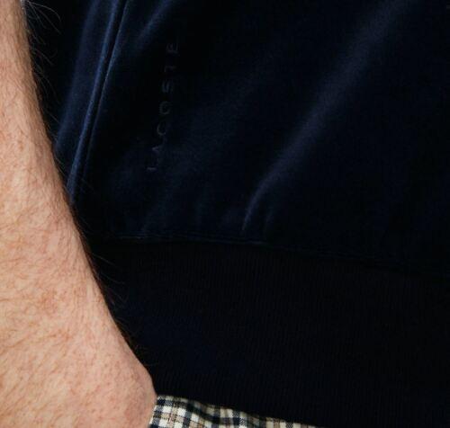 LACOSTE MENS LIVE CONTRAST BANDS VELOUR POLO SHIRT FR S//M RRP:-£115